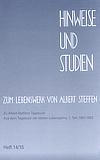 Bild Hinweise und Studien Heft vierzehn fünfzehn
