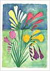 Farbdruck Blumengruß