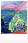 Postkarte Elysische Landschaft
