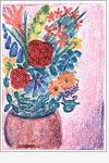 Postkarte Sommerblumen