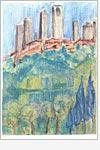 Postkarte San Gimignano