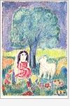 Postkarte Paradiesgarten