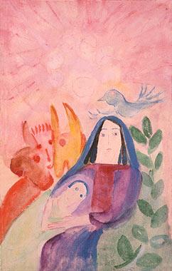 Bild Maria mit Tieren