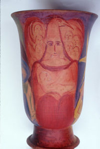 Bild Vase rote Seite