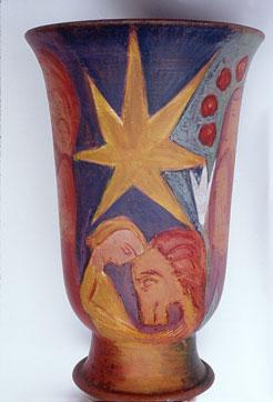 Bild Vase Sternenseite