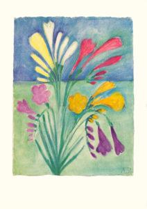 Blumengruß Bild aus der Bildmappe «Gedenkbilder für Elisabeth Steffen»