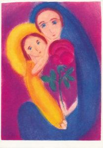 Bild Mutter mit Kind und Rose