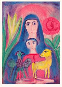 Bild Madonna mit Vogel und Lamm